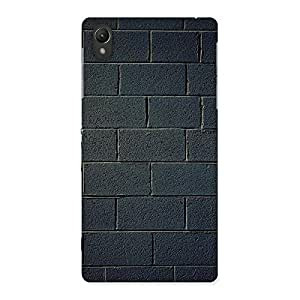 Cute Black Brick Wall Back Case Cover for Sony Xperia Z2