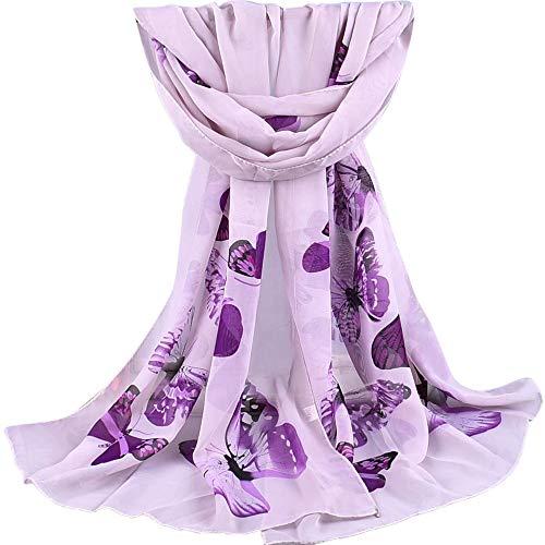 2018 l'automne Hiver Foulard Rovinci Femmes Dames Mode Imprimé Doux Châle Des Enveloppements Longue Écharpe Décontractée Sauvage Écharpes étole (Violet 10)