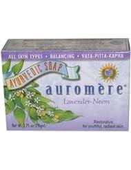 Auromere Pain de savon ayurvédique régénérateur - A base d'extraits de lavande et de margousier - Pour une peau...