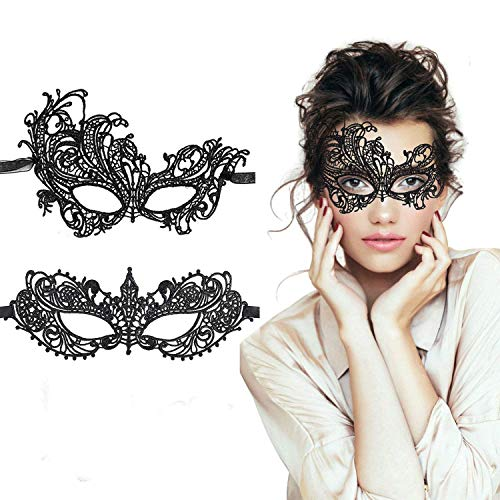 LADES Masquerade Maske - Sexy Spitze Venezianische Augenmaske Lace Masken Damen Maske für Maskenball Halloween Karneval Maskentanzabend Party (Dies Ist Die End-halloween-kostüme)