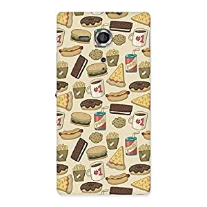 NEO WORLD Premium Food Back Case Cover for Sony Xperia SP