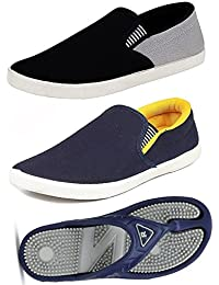 Maddy Men's New Combo Pack of 3 Loafers & Slippers in Various Sizes