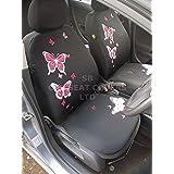 Para adaptarse a un Renault Megane, fundas para asiento, Rossini Juego de mariposa, color rosa