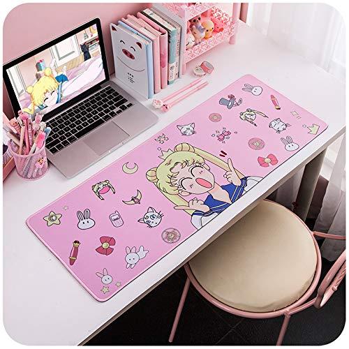 Wasserdichte Schönheit Mädchen Krieger Herz Cartoon Anime Super College Schreiben Weibliche Rosa Computer Tisch Mauspad