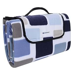songmics 200 x 200 cm xxl picknickdecke fleece w rmeisoliert wasserdicht mit tragegriff. Black Bedroom Furniture Sets. Home Design Ideas