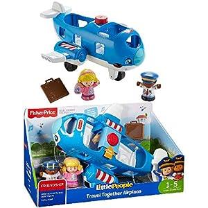 Fisher-Price Little People FKX08 vehículo de Juguete - Vehículos de Juguete (Azul, Blanco, Avión, 1 año(s), 5 año(s), Niño/niña, 2 Pieza(s))