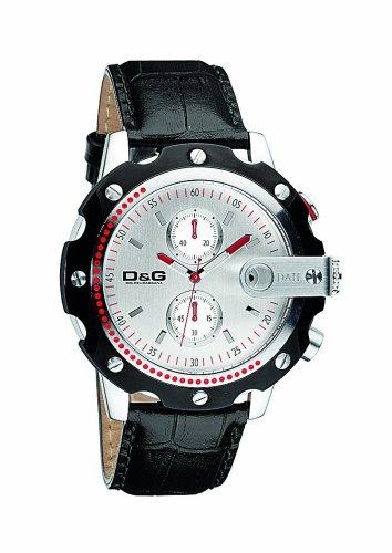 Dolce Gabbana - DW0366 - Montre Homme - Quartz - Chronographe - Chronographes - Bracelet Cuir Noir