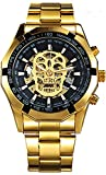 Wrath Skull Collection Gold Automatic Mechanical Watch for Men's & Boys