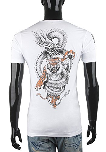 Cipo & Baxx Herren T-Shirt Print Eyecatcher CT350 Weiß