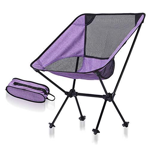 Eodudo-s compatto leggero portable beach camping compact backpacking sedia pieghevole portatile con borsa per pesca escursionismo picnic garden, super comfort, traspirante e confortevole