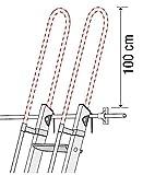 Scala in alluminio per soppalco + 2 mancorrenti laterali + 2 mancorrenti sporgenti standard