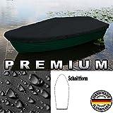 Premium Boot Persenning Bootsplane - Anka, Ruderboot, Schlauchboot, Angelboot & Co Bootsplane extrem reißfest Pioner, Terhi, GFK, Bavaria, Fishman, Verus, (B 570cm x T 250cm, Schwarz)