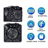 Mini Caméra Iseebiz Sports DV Surveillance de Sécurité HD 1080P Vision Nocturne Infrarouge avec 16G TF Carte Lecteur de Carte USB Clip de Montage Support