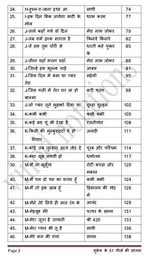 Mukesh Ke 51 Geeton Ki Sargam