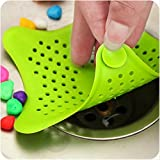 #9: Silicone Star Design Kitchen Sink Filter Bathroom Hair Catcher Bath Stopper Kitchen Waste Stopper Strainer Filter (ASSORTED COLORS)
