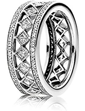 Pandora Damen-Ring 925 Silber Zirkonia weiß - 191007CZ