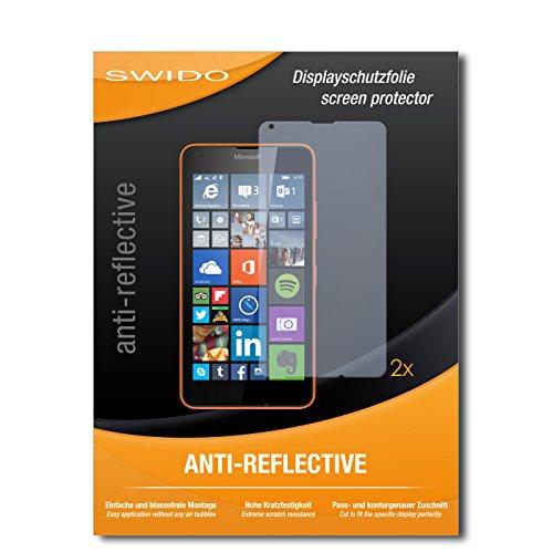 SWIDO Schutzfolie für Microsoft Lumia 640 LTE [2 Stück] Anti-Reflex MATT Entspiegelnd, Hoher Härtegrad, Schutz vor Kratzer/Bildschirmschutz, Bildschirmschutzfolie, Panzerglas-Folie