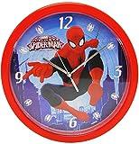 Wanduhr -  Spider-Man  - 25 cm groß - sehr leise ! - Uhr - Analog - Wohnzimmer & Kinderzimmer - für Jungen Kinder - Kinderuhr - Ultimate Spiderman / Lernuhr..