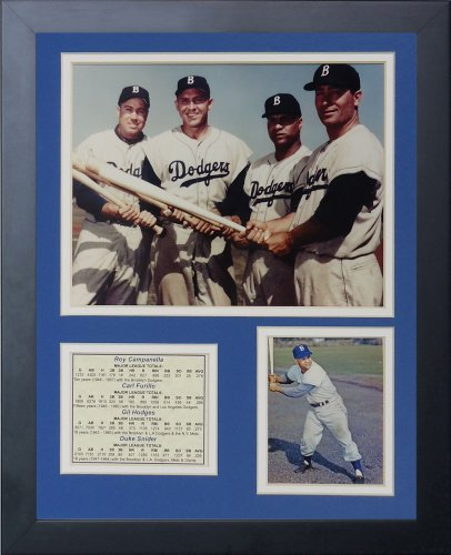 legenden-sterben-nie-brooklyn-dodgers-50-s-big-vier-gerahmtes-foto-collage-11-von-356-cm
