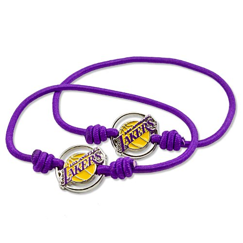 aminco NBA Los Angeles Lakers Stretch Armband & Haar Krawatte, 2er Pack