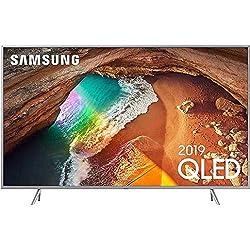 Samsung Q64R 163 cm Silver (65 Zoll) 4K QLED Fernseher GQ65Q64R (Q HDR, Ultra HD, HDR, Twin Tuner, Smart TV) [Energieklasse A+] ...