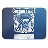 BLAK TEE Custom Garage Cafe Style Racer Mouse Pad 18 x 22 cm in 3 Colours Blu