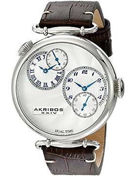 Akribos XXIV Herren-Armbanduhr AK796SSBR Analog Quarz AK796SSBR