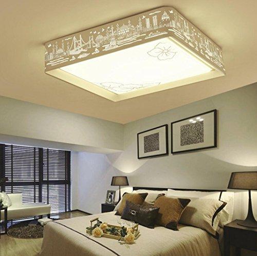 Quadrat Papier Schatten (LED-Deckenleuchte Schlafzimmer Warm und romantisch Kreative Wohnzimmerbeleuchtung Raumbeleuchtung , C)