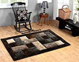 #3: HOMECRUST Plain Shaggy Fur Carpets for Home Living Room/Rugs - 4 x 6 Feet