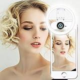 AUTOPkio Selfie Ring Light con obiettivo per fotocamera macro - 36 LED USB ricaricabile sul telefono Luci ad anello con obiettivo grandangolare per iPhone Android Fotocamera Regalo San Valentino