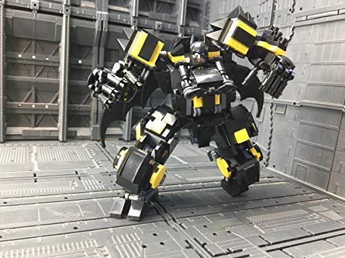 Super Heroes Dark Knight Mech Suit, MOC Mech Roboter passend für Minifiguren, 319 teiliges Bausteine Konstruktionsspielzeug