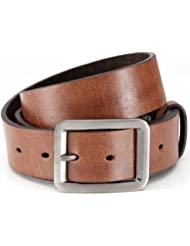 Ceinture en cuir avec PU, ceinture de jeans avec une belle boucle, facilement réglable, unisexe, court ceinture mode, Largeur: 3,8 cm
