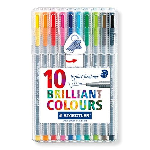 Staedtler 334 Triplus Fineliner Superfine Point Pens, 0.3 mm, Assorted Colours, Pack of 10 Test