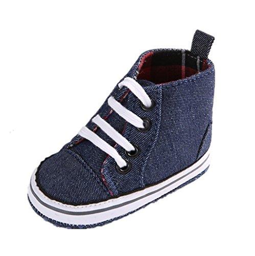 BabySchuhe Auxma Baby Basic Leinwand Sneaker Weiche Bottom Straps Prewalker Krippe Schuhe Für 3-6 6-12 12-18 Monat (3-6 M) (Strap 3 Boot)