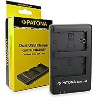 PATONA Caricatore doppio per Batteria NP-FZ100 adatto per Sony Alpha 9 / Alpha 7RM3 / 7M3 / A7 R III / BC-QZ1 Micro USB