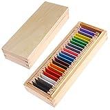 Kofun Montessori Sensorial Material Learning Color Tablet Box Wood Preschool Toy 26x10x5 cm