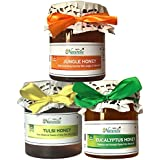 Farm Naturelle-Raw Natural Unprocessed Tulsi Forest Flower Honey & Jungle Flower Forest Honey & Eucalyptus Flower...