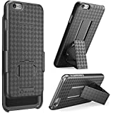iPhone 6S Case, i-Blason Also Fit Apple iPhone 6 Case 4.7 Inch Transformer Slim Hard Shell Holster Cover Combo with Kickstand and Belt Clip (Black)