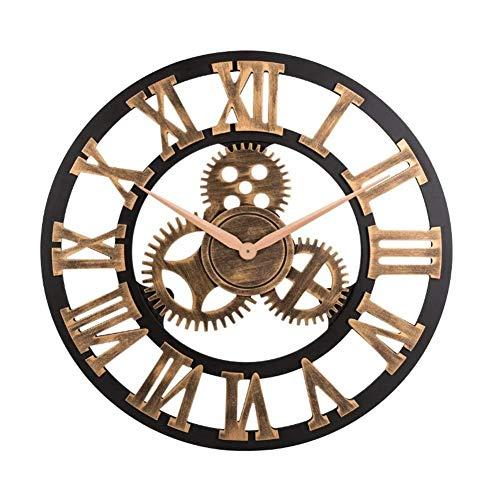 Siecpc orologio da parete, orologio da parete in numeri romani d'epoca 3d orologi industriali orologi retrò europei decorazione per l'ufficio del soggiorno
