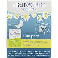 NATRACARE - Compresas Ultra con Alas - Regulares - Absorbentes y Seguras - Totalmente Libres de Perfume y Cloro - Biodegradables - 14 Piezas