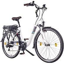 NCM Munich 28 Zoll Elektrofahrrad Herren/Damen Unisex Pedelec,E-Bike,City Rad, 36V 250W 14Ah Lithium-Ionen-Akku mit PANASONIC Zellen, weiß