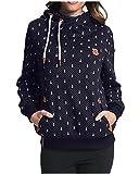 StyleDome Winter Damen Hoodies Pullover Langarm Jacke Top Sweatshirt Pullover Tops Jumper Dunkelblau465870 XL