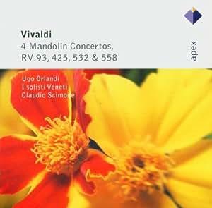 Vivaldi : 4 Concertos pour mandoline RV 93, RV 425, RV 532, RV 558