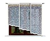 HAFT® Flächenvorhang kurz, Panel kurz, Schiebevorhang kurz, Gardine, Vorhang (140 x 60 cm)