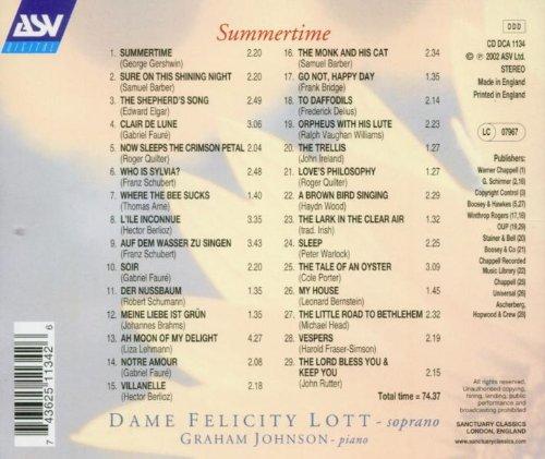 Summertime - Sélection De Mélodies D'Eté De Gerschwin, Barber, Elgar, Fauré, Schubert, Schumann, Bri [Import anglais]