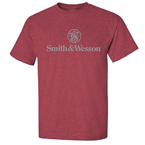 smith-y-wesson-logo-camiseta-diseno-con-logotipo-en-color-rojo-antiguo