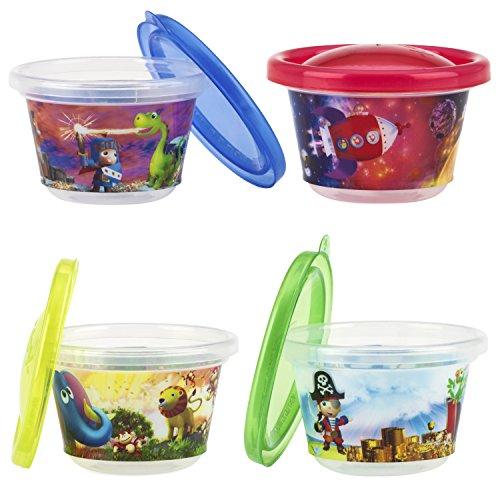 Nuby ID94044 Picknick Snack Cups mit Motiv, mehrfarbig
