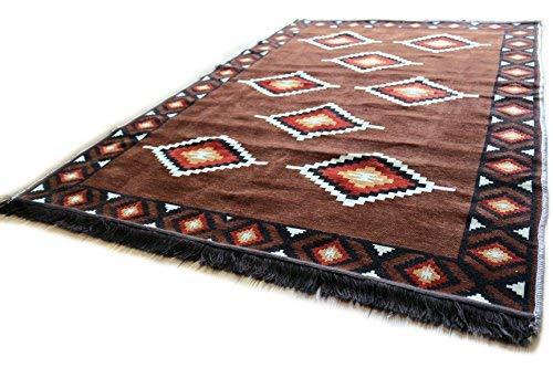 Damaskunst nuovo marrone 140 x 200 cm orientale tappeto, kilim, kilim, tappeto,zerbino,pavimenti,tappeto nuovo s 7-4-72