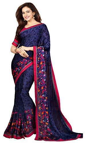 Shivalika Tex Women's Georgette Printed Sarees