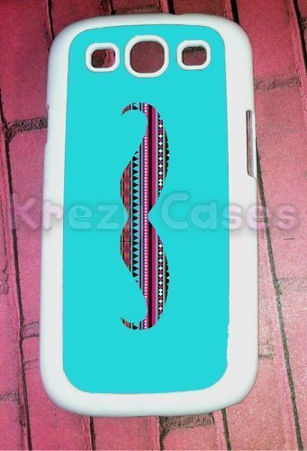 Samsung Galaxy S3Case, moustache avec motif aztèque pour Galaxy S3, Samsung Galaxy S3cas, étui pour Galaxy S3